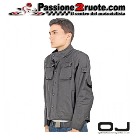 Giacca moto scooter impermeabile Oj Life nero black waterproof jacket
