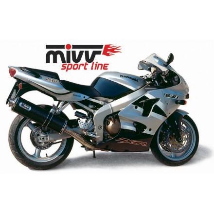 Scarico Mivv Oval Carbonio Kawasaki ZX-6R 636 (2002) - K.008.LE