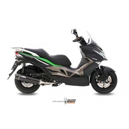 Impianto Scarico Completo Mivv Stronger Steel Black Kawasaki J300 - O.005.LBSC