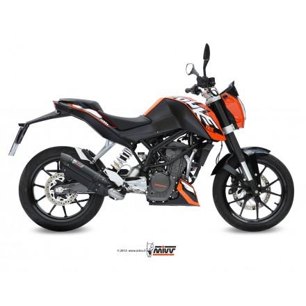 Scarico Mivv Suono Steel Black Inox KTM Duke 125 / 200 - KT.009.L9