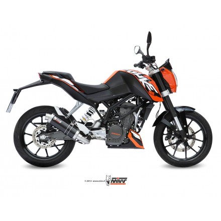 Scarico Mivv Gp Steel Black KTM Duke 125 200 KT.009.LXB Auspuff Exhaust