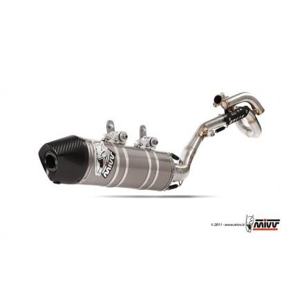 Scarico Completo KTM SX-F 450 2009-10 Mivv Stronger Inox Carbon Cap M.KT.020.SXC.F auspuff exhaust