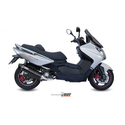 Impianto Scarico Completo marmitta Mivv Stronger Steel Black Kymco Xciting 300 - O.002.LBSC auspuff exhaust