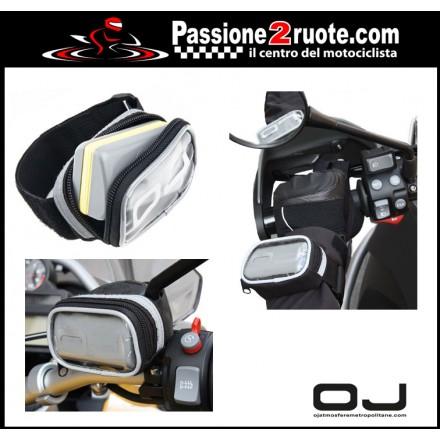 M068 OJ Pass porta dispositivo elettronico per pagamento autostrade divisibile con strap di regolazione