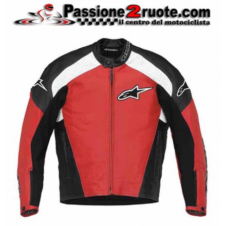 Giacca pelle Alpinestars Tz-1 Rosso