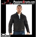 Giacca moto traforata doppio strato antivento Oj Skill nero black perforated 2 layer windproof jacket