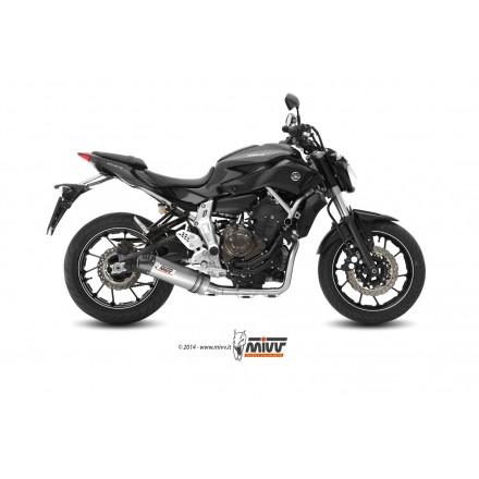Impianto Scarico Completo Mivv Oval Carbon Cap Titanio Yamaha MT-07 auspuff exhaust