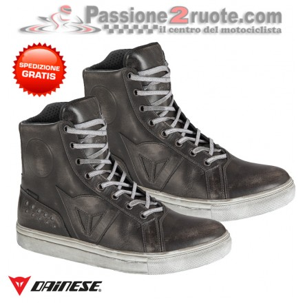 Scarpe moto Dainese Street Rocker D-WP Nero black shoes