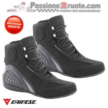 Scarpe moto impermebili Dainese Motorshoe D-wp waterproof nero grigo black grey shoes