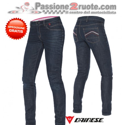 pantalone jeans moto donna Dainese belleville Slim lady pants