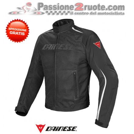 Giacca traforata impermeabile moto Dainese Hydra Flux D-Dry Nero Bianco jacket