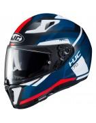Casco integrale moto doppia visiera Hjc i70 helmet casque sun visor