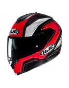 Casco integrale moto doppia visiera Hjc c70 helmet casque sun visor